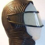 American black leather helmet -c. 1967