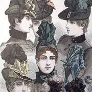 Illustration of bonnets and hats -1887